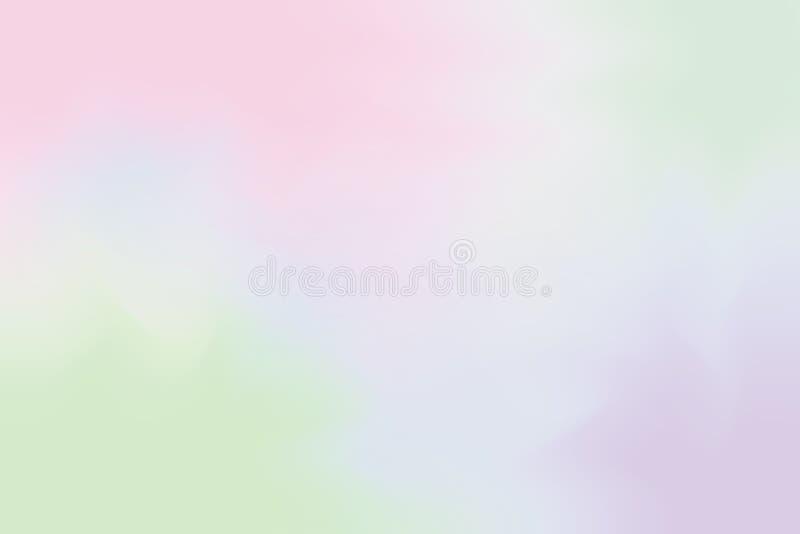 A cor macia roxa cor-de-rosa misturou o sumário pastel da arte da pintura do fundo, papel de parede colorido da arte ilustração stock