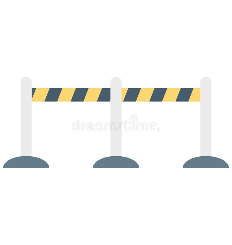 A cor manual da barreira isolou o ícone do vetor que facilmente pode ser alterado e editado ilustração do vetor