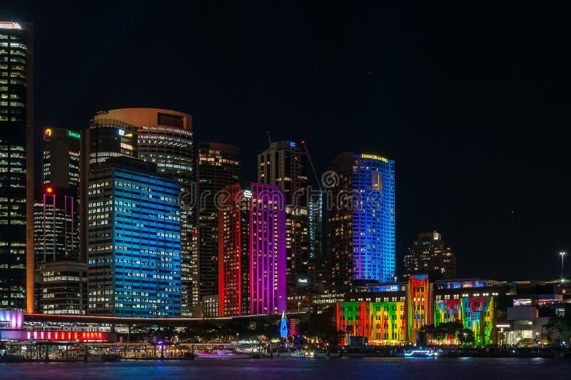 Cor na cidade - Sydney vívido imagem de stock royalty free