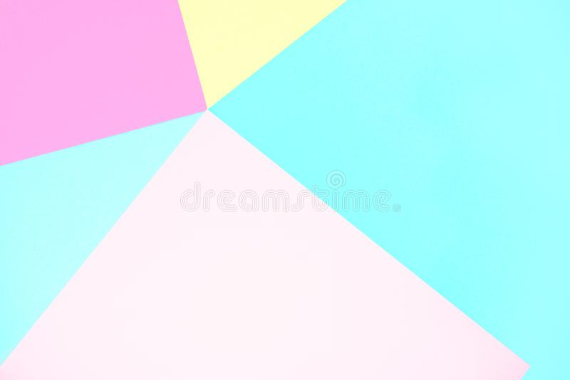 Cor pastel abstrata fundo de papel colorido do minimalismo da textura Formas geométricas mínimas em cores pasteis fotos de stock