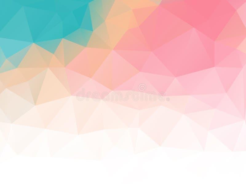 Cor pastel abstrata triangular do fundo colorida ilustração royalty free