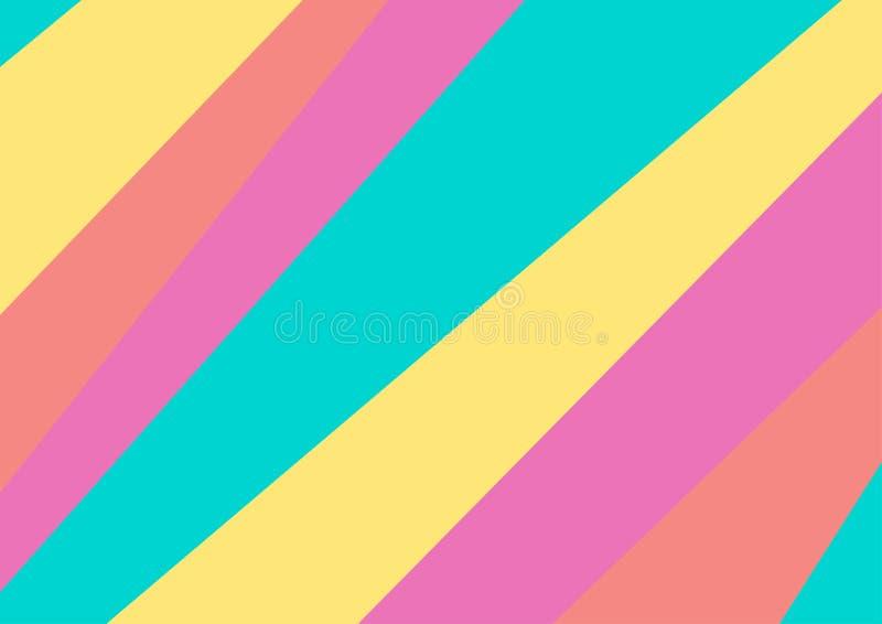 A cor pastel colorida abstrata listra o fundo mínimo ilustração do vetor