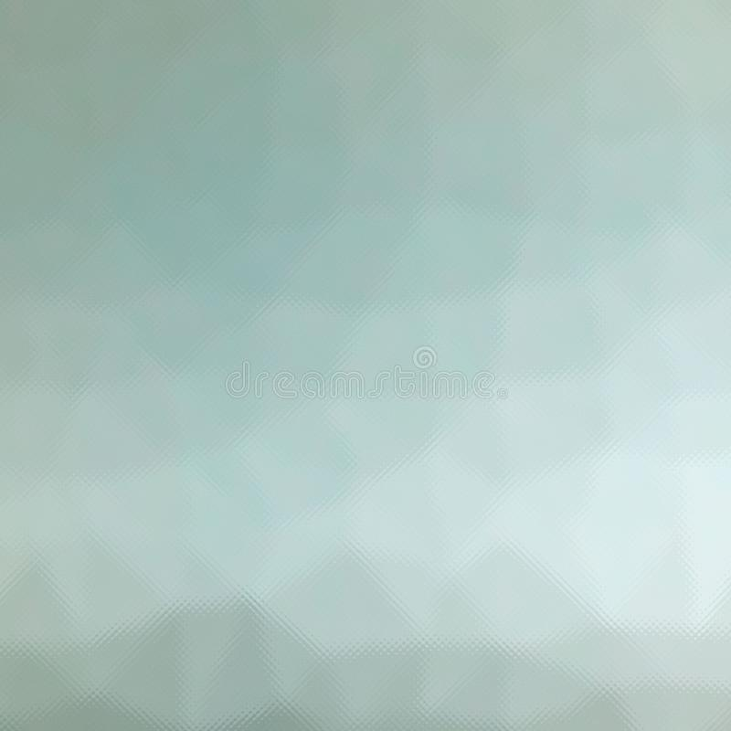 Cor pastel de Brown, cinzenta e verde através do vidro minúsculo na ilustração quadrada do fundo da forma ilustração royalty free