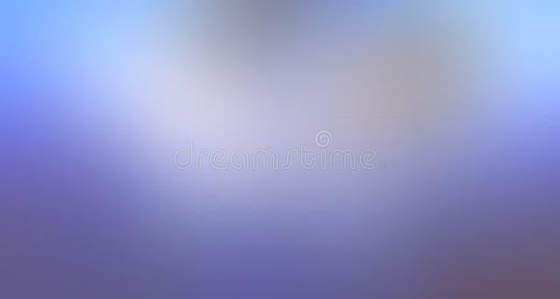 Cor pastel do azul-céu e a branca papel de parede protegido do fundo do borrão ilustração royalty free