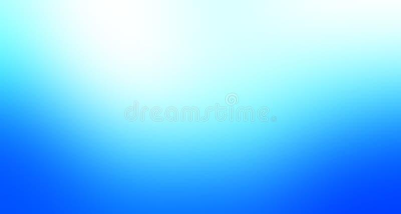 Cor pastel do azul-céu e a branca papel de parede protegido do fundo do borrão ilustração do vetor