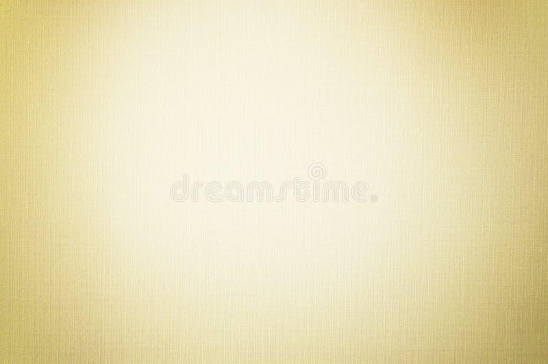 Cor pastel do ouro com a foto macia do foco do teste padrão de linho branco da textura do papel de fundo da tela, Art Paper Backg foto de stock royalty free