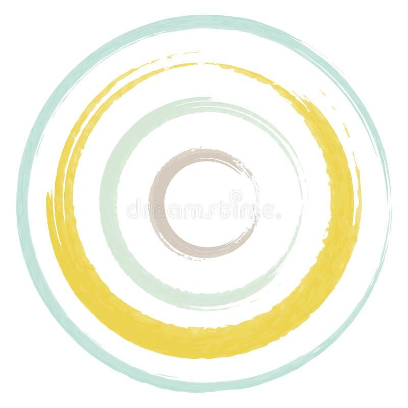 Cor pastel dois da escova dos círculos imagens de stock