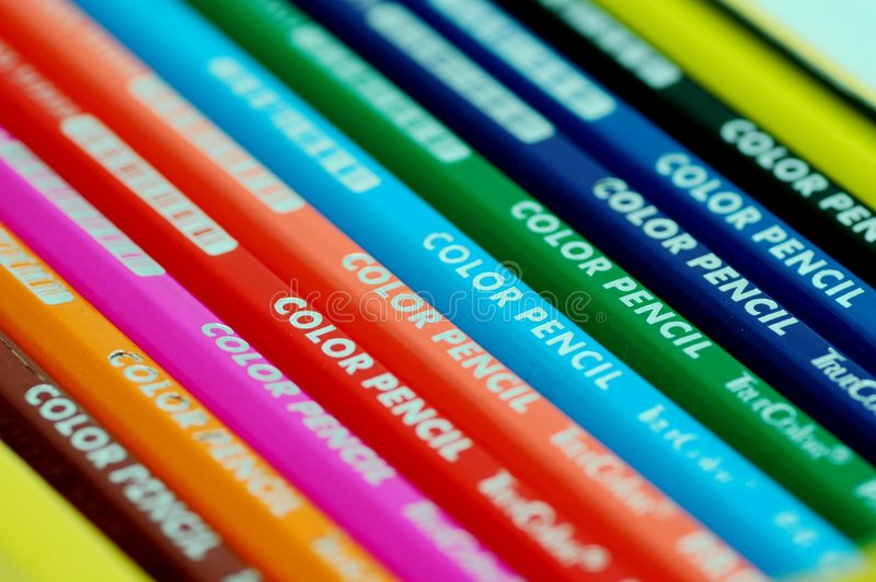 Cor pencil-3 fotografia de stock royalty free