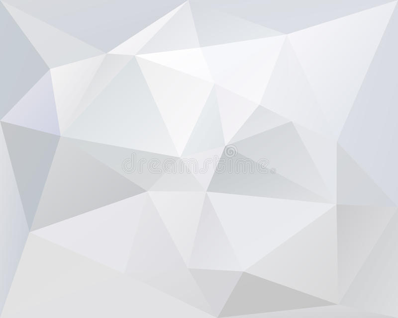Cor poligonal branca do fundo do vetor do triângulo, a clara e a pálida ilustração do vetor