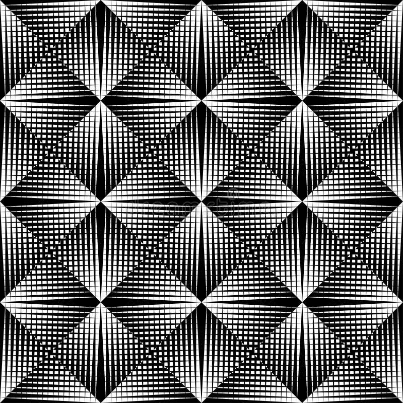Cor preto e branco do teste padrão geométrico ilustração do vetor