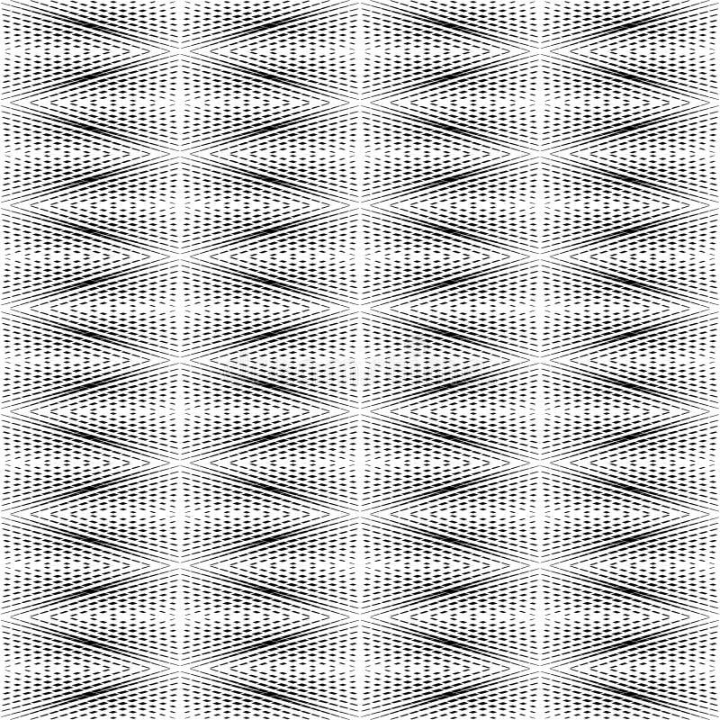 Cor preto e branco do teste padrão geométrico ilustração stock