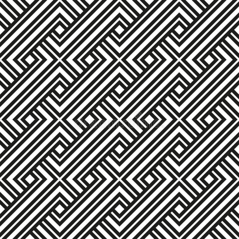 Cor preto e branco do teste padrão geométrico ilustração royalty free