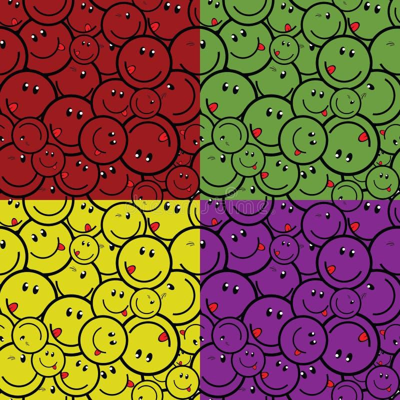 Cor quatro sem emenda do sorriso ilustração royalty free