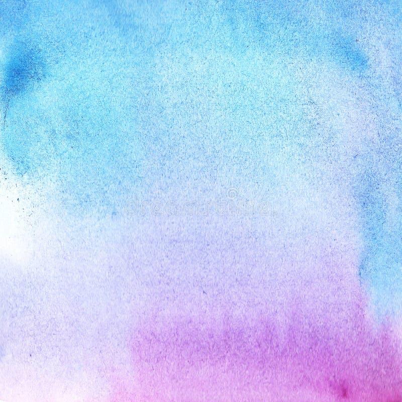 Cor roxa e azul do fundo da aquarela da abstração com inclinação do divórcio fotografia de stock royalty free