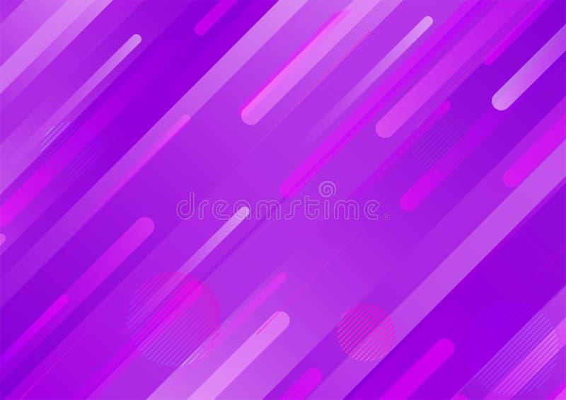 A cor roxa Textured o projeto moderno do fundo geom?trico do sum?rio da forma ilustração stock