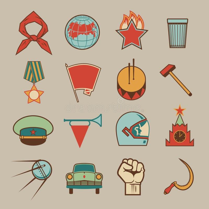 Cor soviética dos ícones ilustração stock