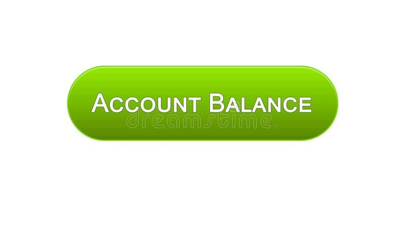 Cor verde do botão da relação da Web do balanço de contas, serviço de operação bancária em linha, app ilustração do vetor
