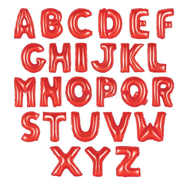 Cor vermelha de alfabeto inglês foto de stock