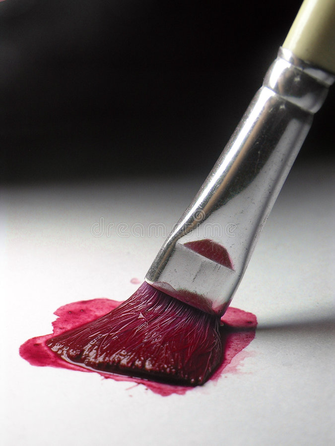 Cor vermelha de pintura foto de stock