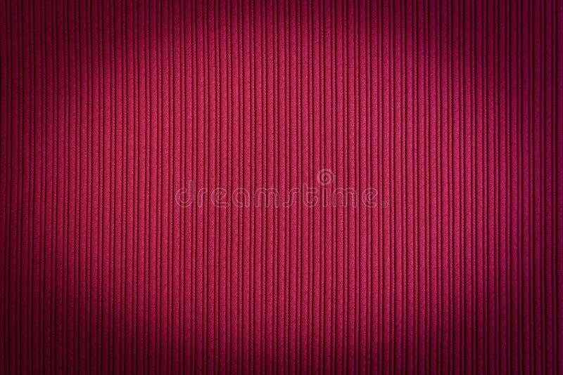 Cor vermelha do fundo decorativo, textura listrada, inclinação do vignetting wallpaper Arte Projeto fotografia de stock royalty free