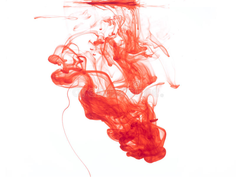 Cor vermelha na água foto de stock
