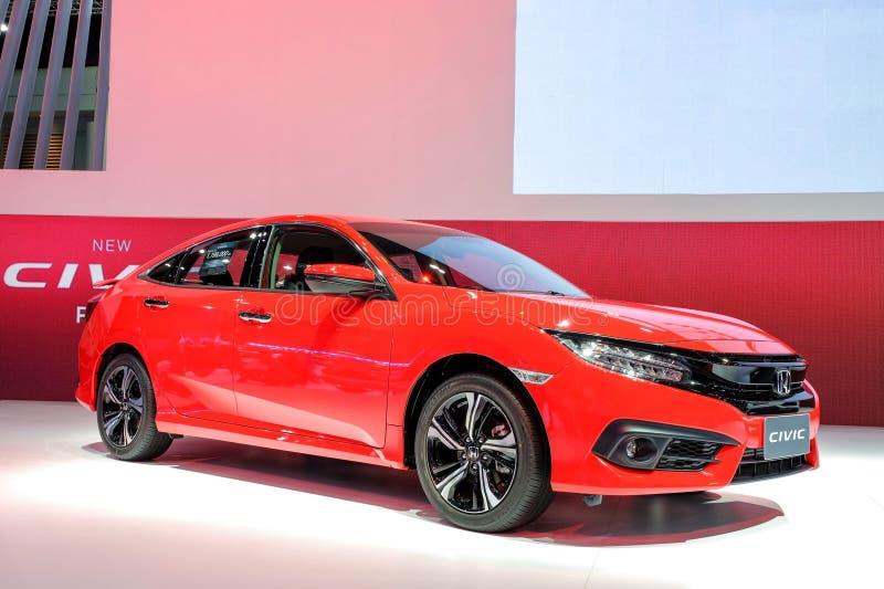 Cor vermelha nova de Honda Civic fotografia de stock