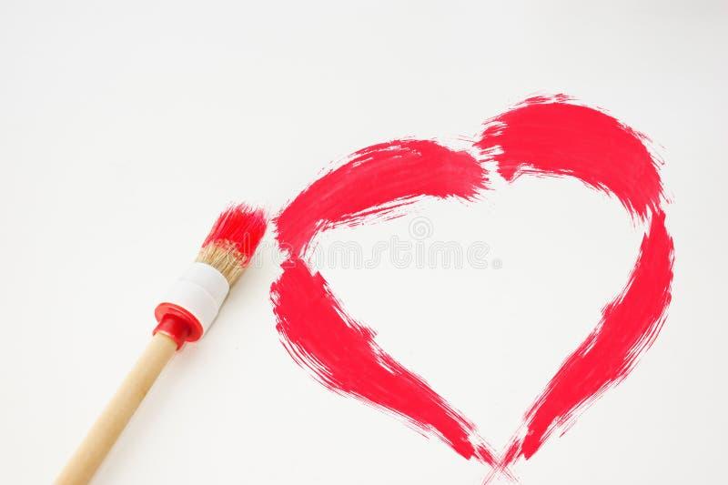 Download Coração imagem de stock. Imagem de pintor, saúde, paixão - 12804453