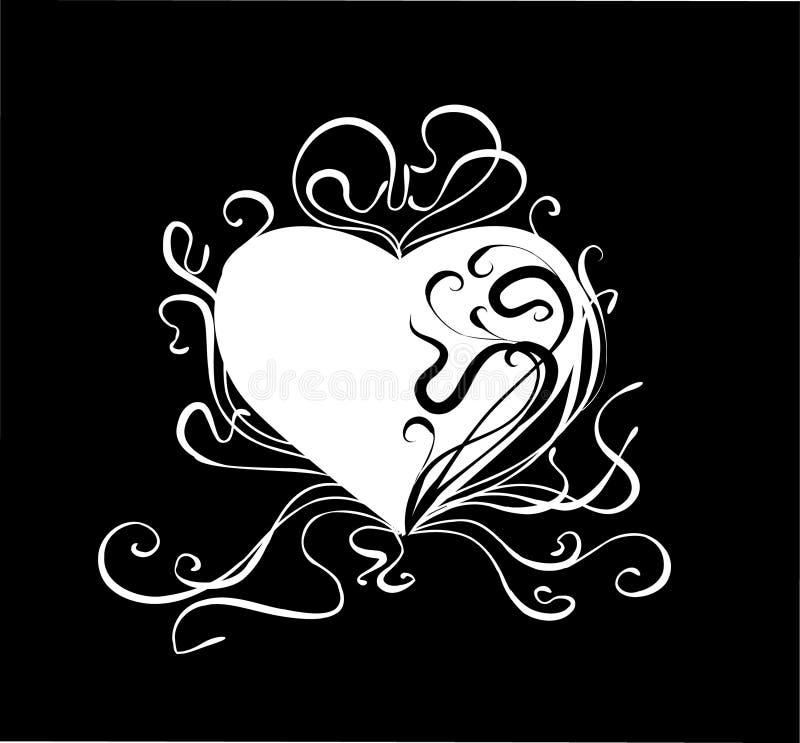 Coração abstrato ilustração stock