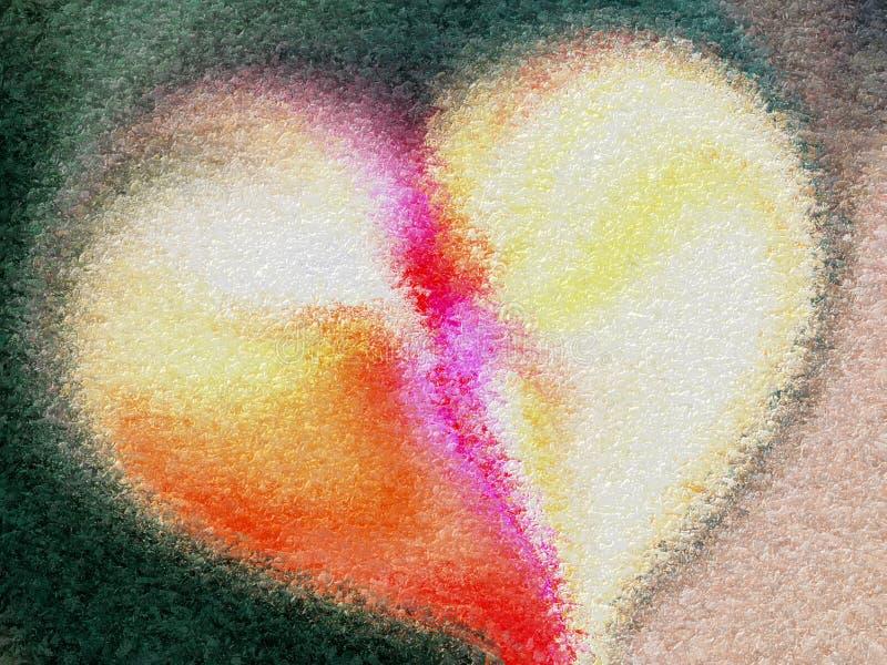 Coração abstrato do Valentim com fundo textured ilustração do vetor