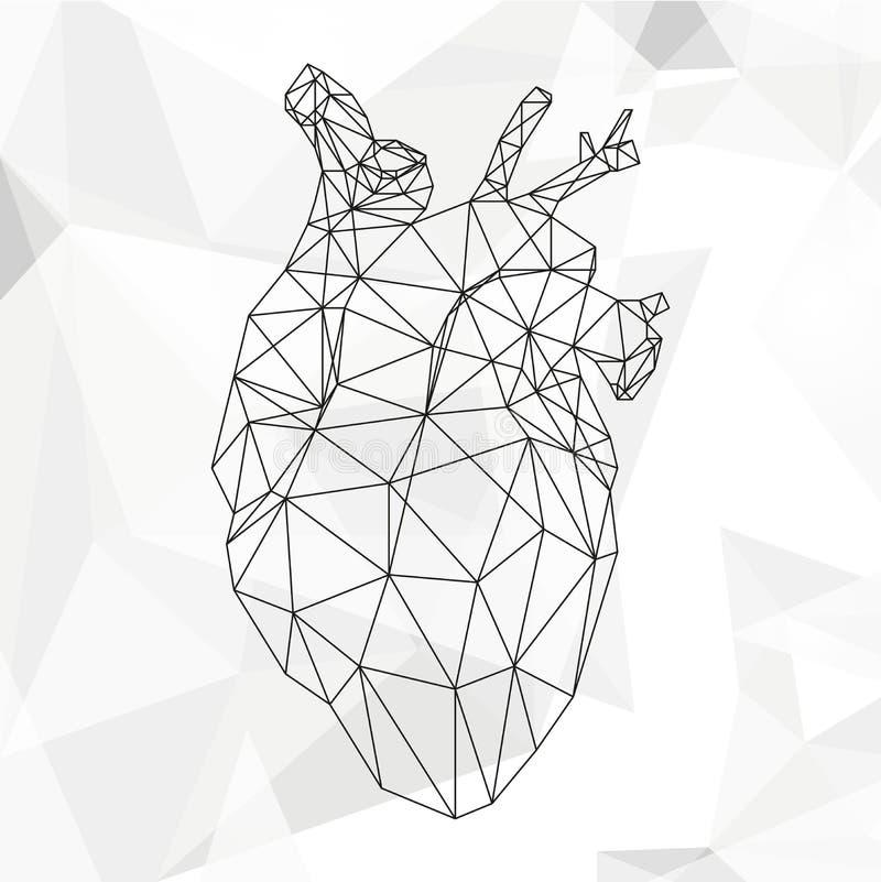 Coração abstrato geométrico imagens de stock royalty free