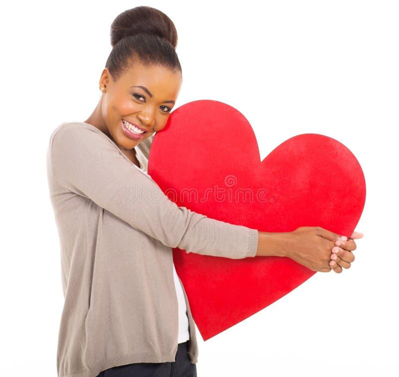 Coração africano da mulher imagens de stock