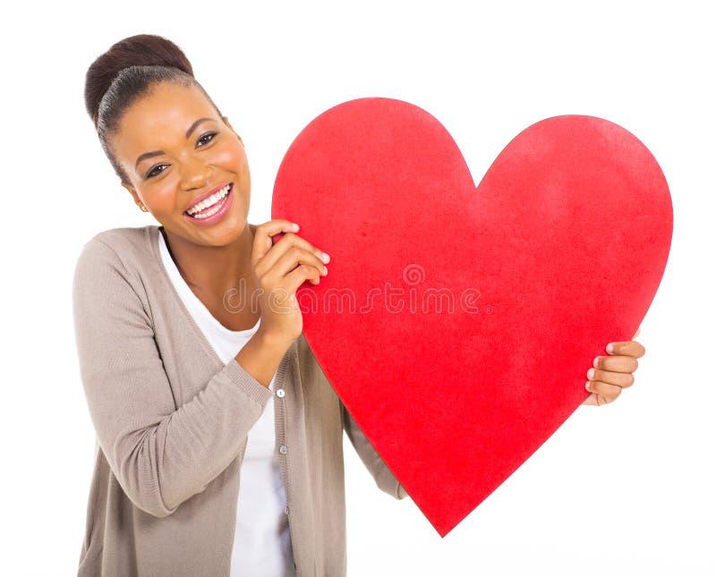 Coração afro-americano da menina imagens de stock royalty free