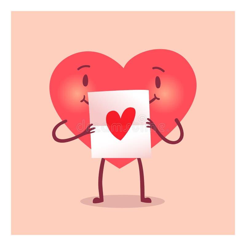 Coração alegre para o dia de são valentim ilustração do vetor
