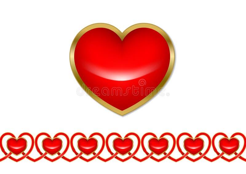 Download Coração & Teste Padrão Dos Corações Ilustração do Vetor - Ilustração de creativo, gráfico: 12802902