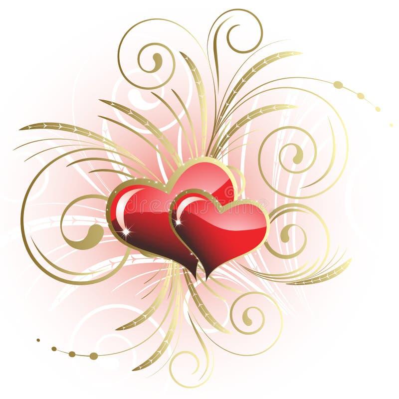 Coração ao St.Valentine ilustração royalty free