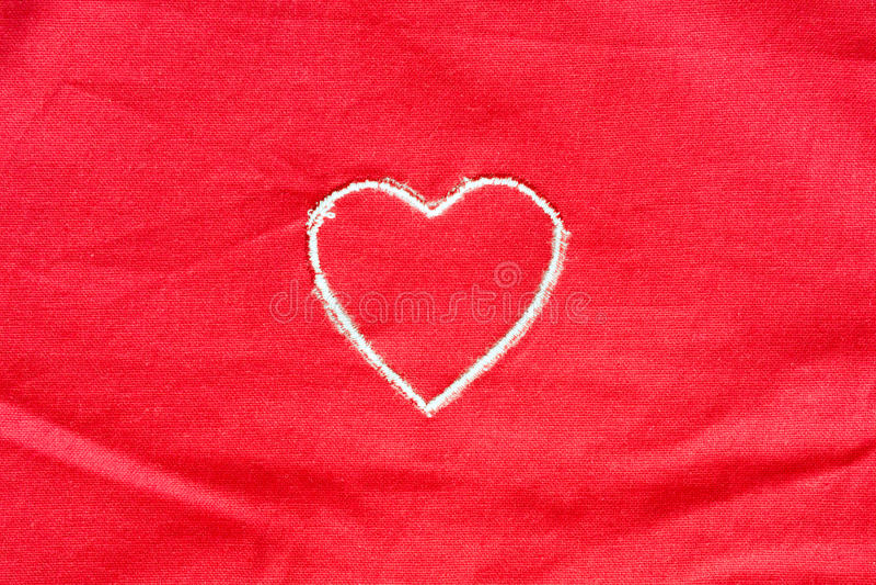 Coração bordado imagem de stock