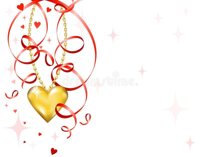 Download Coração brilhante do ouro ilustração do vetor. Ilustração de ornament - 12803721