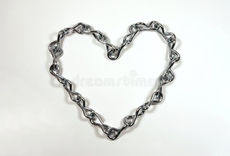 Coração Chain imagem de stock royalty free