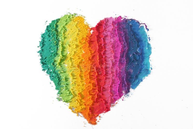 Coração colorido fotografia de stock royalty free