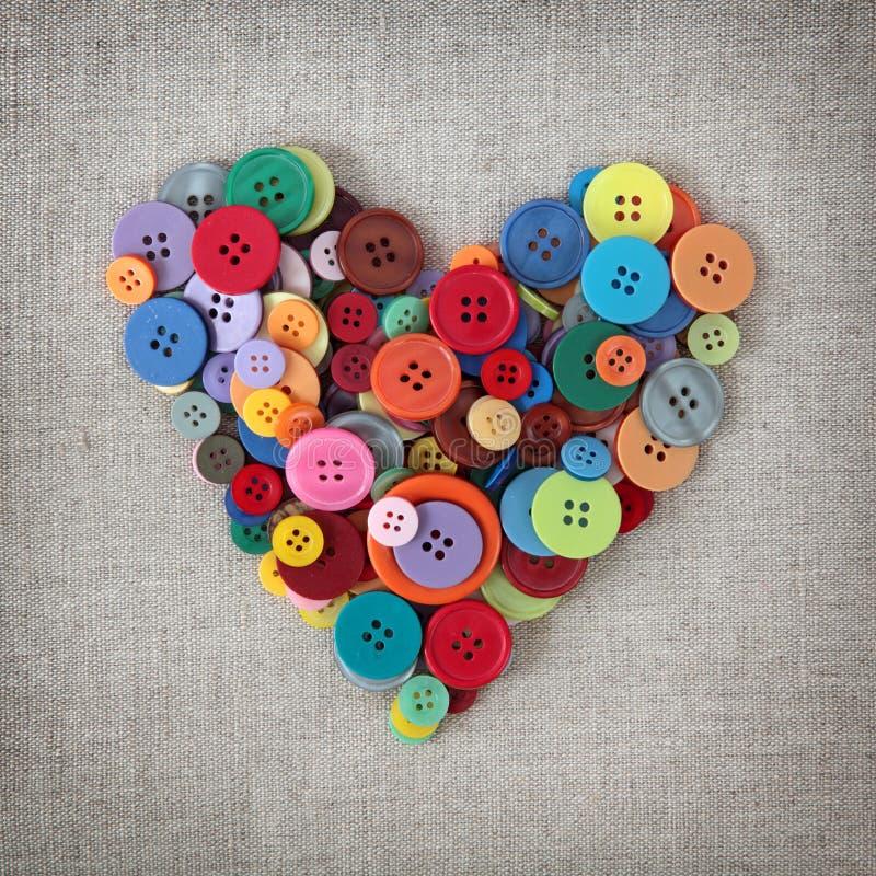 Coração colorido das teclas foto de stock royalty free