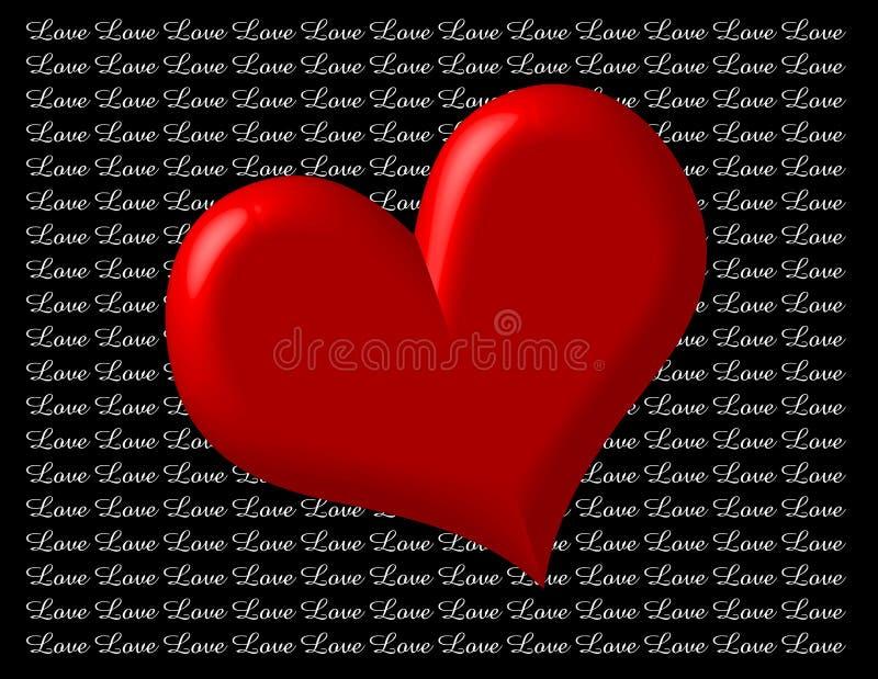 Coração com amor ilustração do vetor