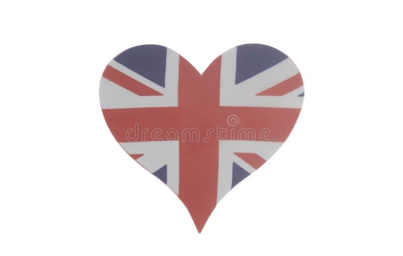 Coração com bandeira britânica fotos de stock royalty free