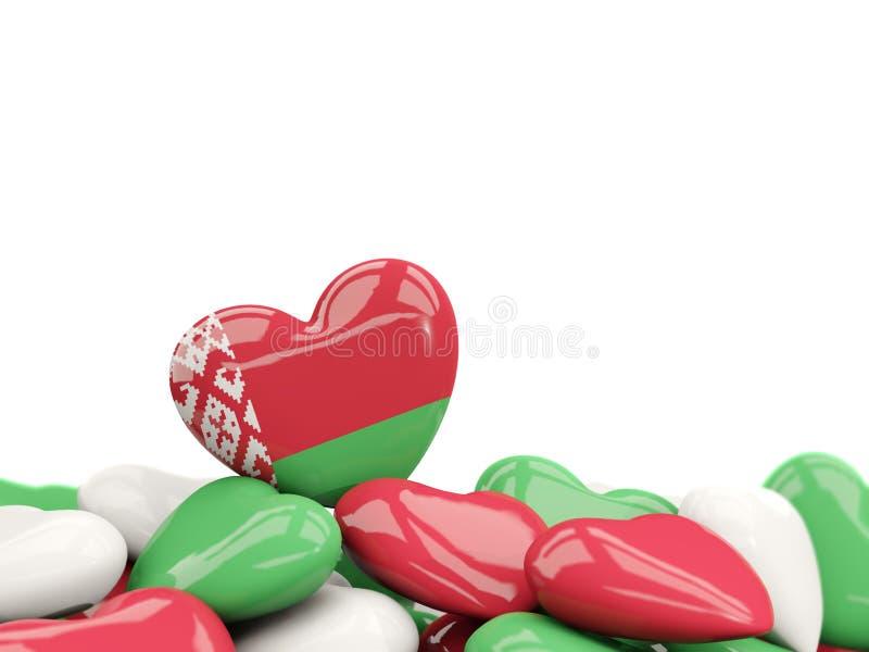 Coração com a bandeira de belarus ilustração royalty free
