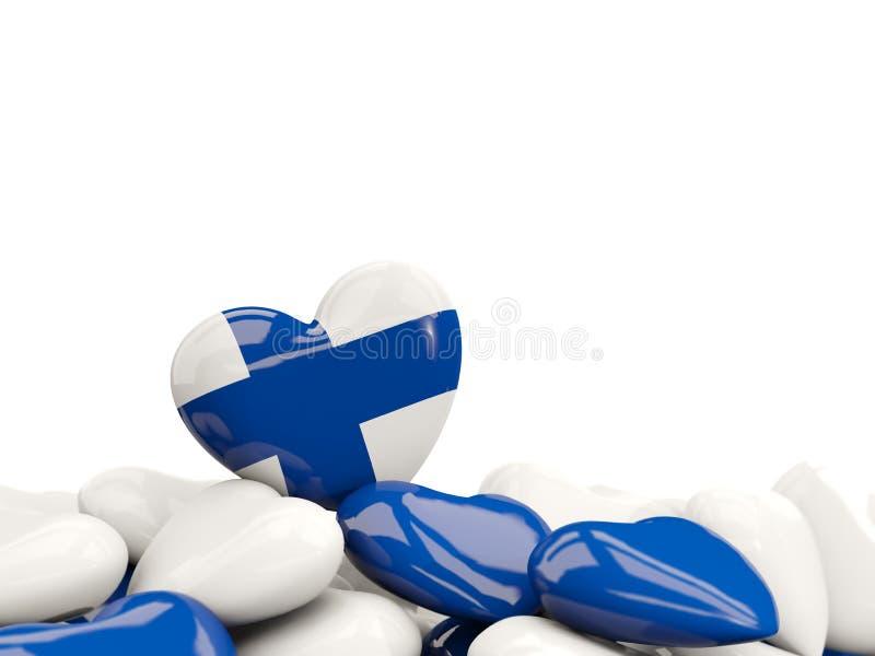 Coração com a bandeira de finland ilustração royalty free