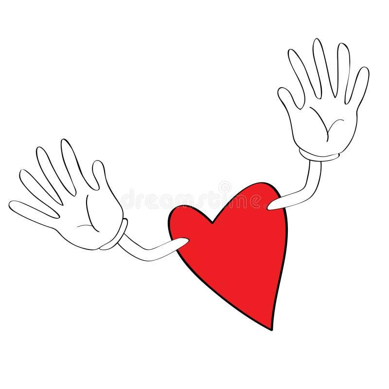 Coração Com Braços Abertos Ilustração Do Vetor. Ilustração