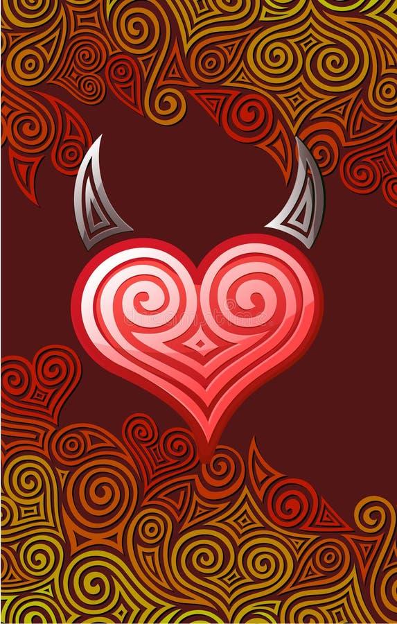Coração Com Chifres Imagens de Stock