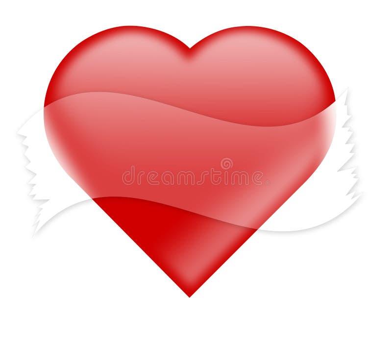 Coração com fita empthy imagens de stock royalty free