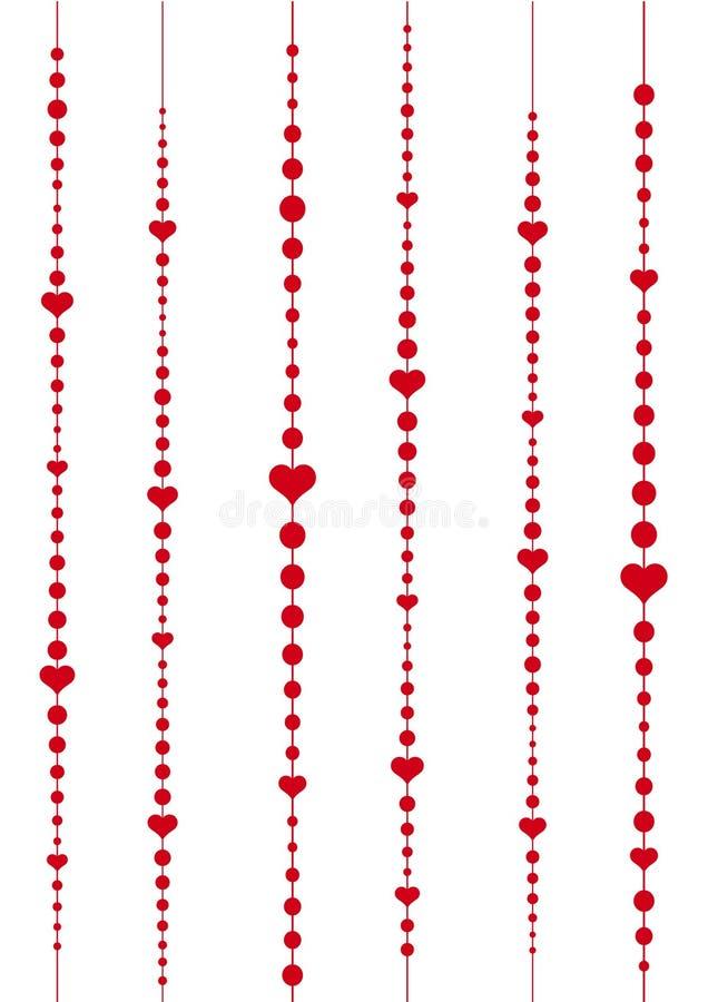 Coração com pontos ilustração do vetor
