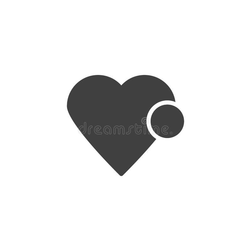 Coração como o ícone do vetor da notificação ilustração do vetor