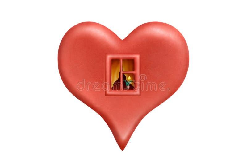 Coração Cosy 2 ilustração do vetor